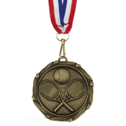 Combo Tennis Medal with 10mm R/W/B