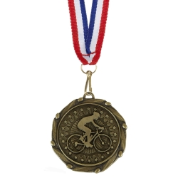 Combo Cycling Medal with 10mm R/W/B