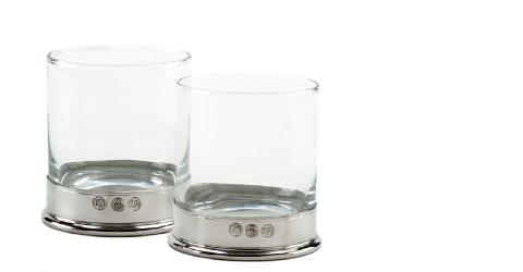 Lomand Whisky Glass x 2 in Presentation Box (N)