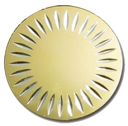 Diamond Milled Gold Disk