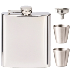 Vision Mirror Polish 6oz Flask with Funnel & 2 Cup Set