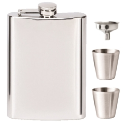 Vision Mirror Polish 8oz Flask with Funnel & 2 Cup Set