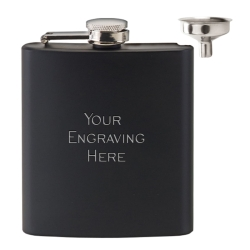Vision Matt Black 6oz Flask & Funnel Set