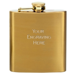 Vision Flask Satin Brass