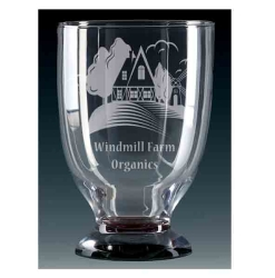 Windmill Glass Chalice
