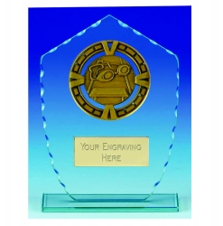 Varsity Swimming Glass Plaque (N)