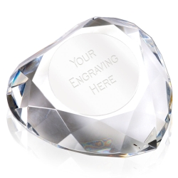 Heart95 Faceted Paperweight Plate